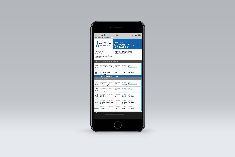 Ad Astra Course Schedule App Design - Brady Cackler